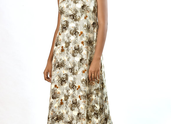 Digital printed maxi dress