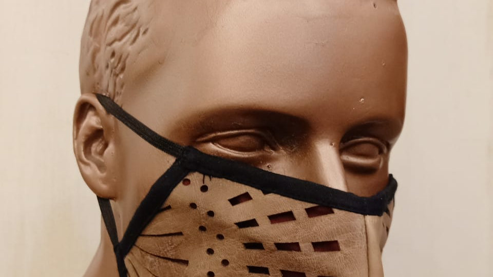 Lasercut geniune leather mask