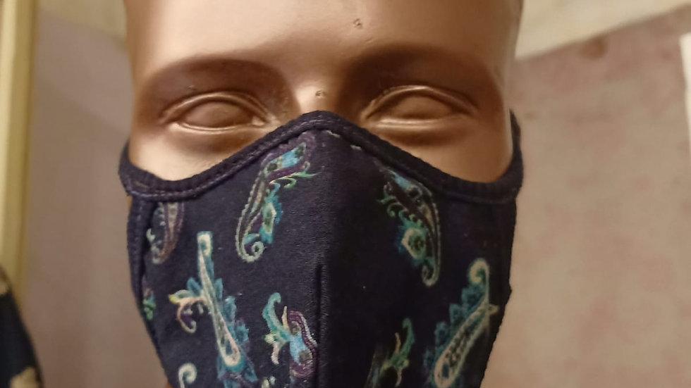 digital printed paiseleycotton covid mask