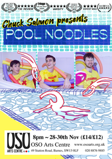 Poster from our London preview of 'Pool Noodles'