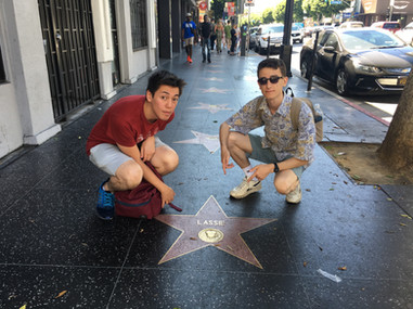 Alex and Noah meet their hero on the Hollywood walk of fame