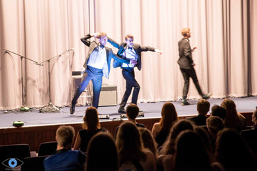 Performing sketches at Churchill Spring Ball 2018