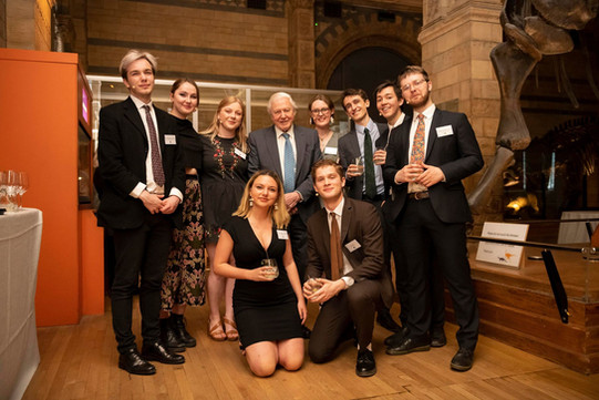 Performance at the Natural History Museum with the Cambridge Footlights. Sir David Attenborough thought we were going to be doing a song and dance!