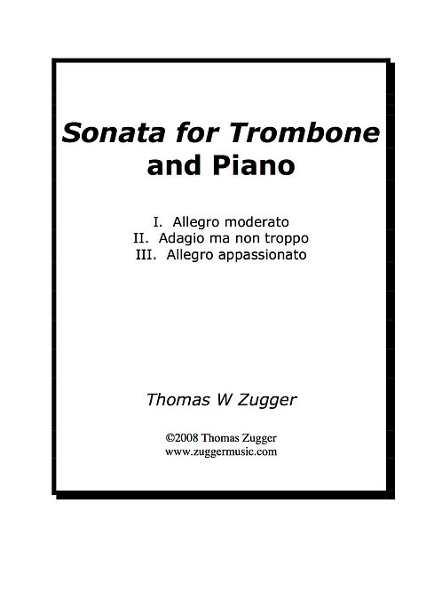 Sonata for Trombone and Piano