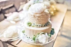 blush colored cake