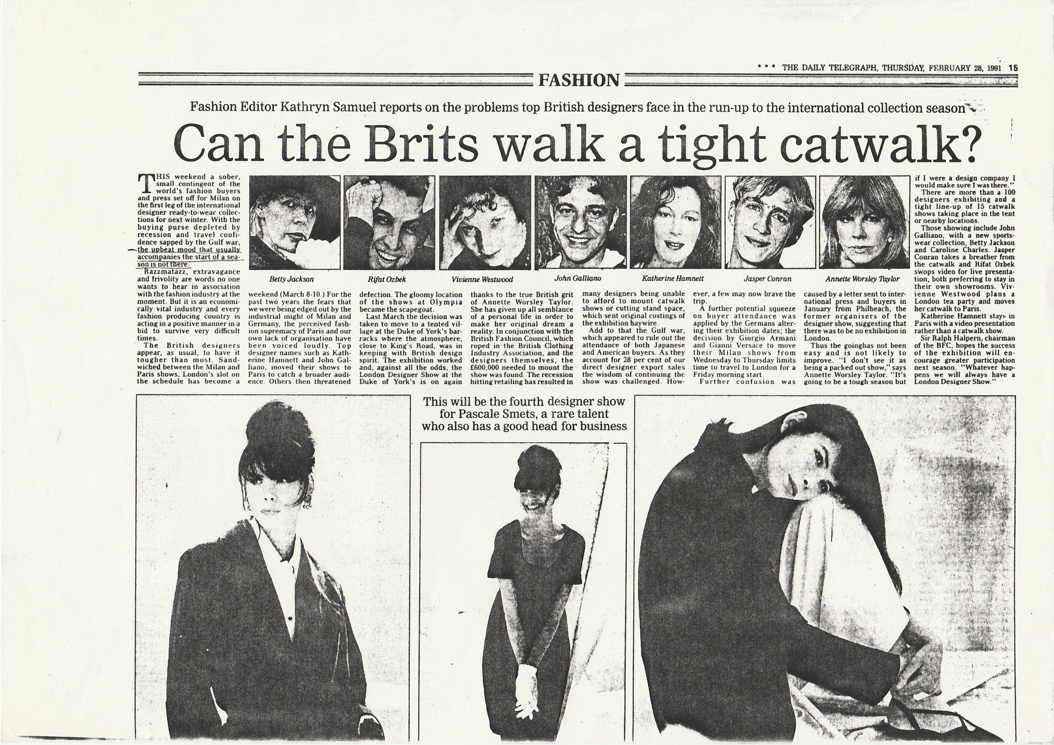 Can the Brits walk a tight catwalk?