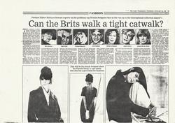 Can the Brits walk a tight catwalk?