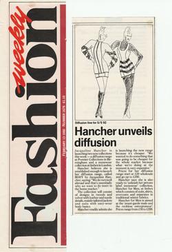 Weekly Fashion 'Hancher unveils...'