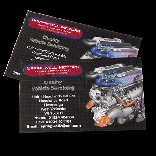 500 4/4 Matt Laminated Business Cards