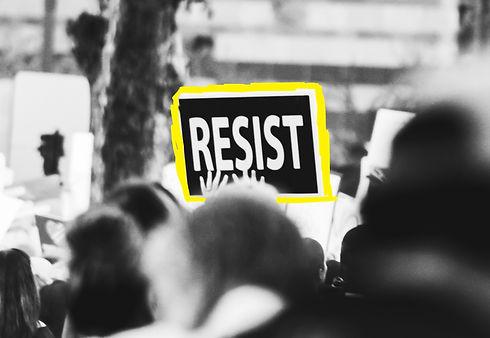monochrome-photo-of-resist-signage-31412
