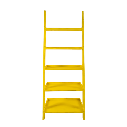 Yellow Ladder Shelf