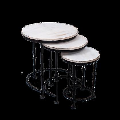 White Nesting Table Set Of 3