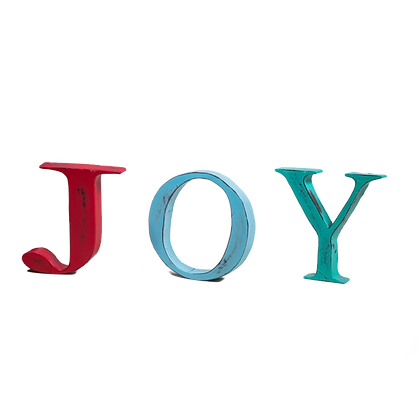 JOY Distressed Display Alphabet