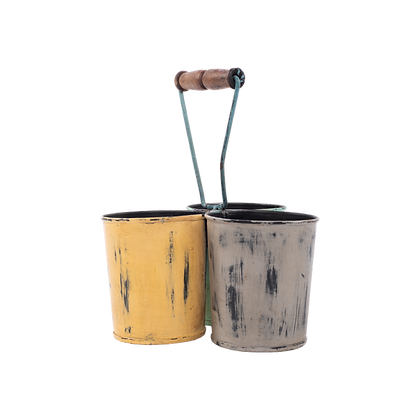 3 Bucket Shape Planter