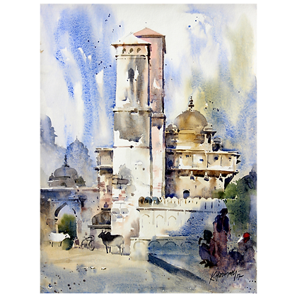 K Hiremath - Savan Bhadon Pillars, Orchha