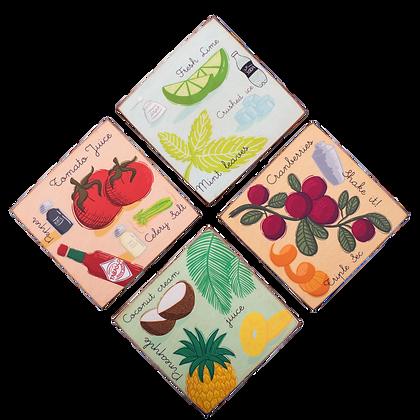 Mocktail Coasters (set of 4)
