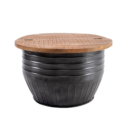 Black Drum Style Coffee Table