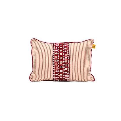 Embroidered Two-tone Cushions