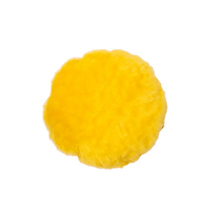 Faux Fur Poof Yellow