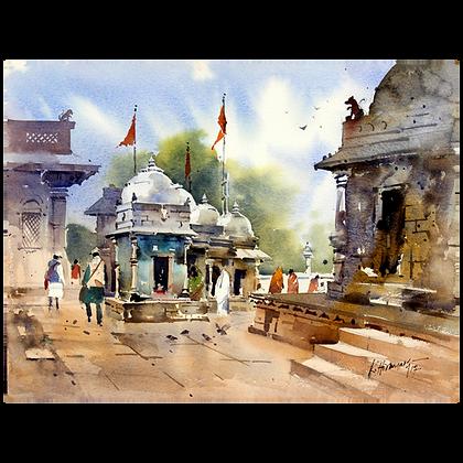 K Hiremath - Temple, Vadnagar 2