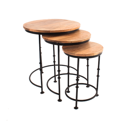 Brown Nesting Table Set Of 3