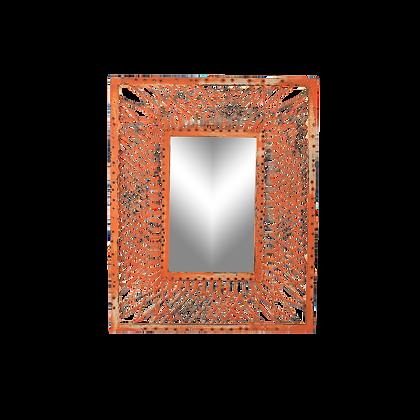 Distressed Orange Mirror