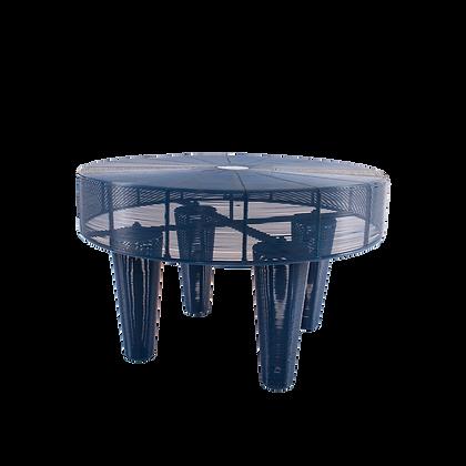 Blue Spun Iron Coffee Table