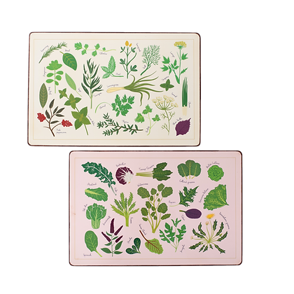 Herbs & Greens Table mat (set of 2)