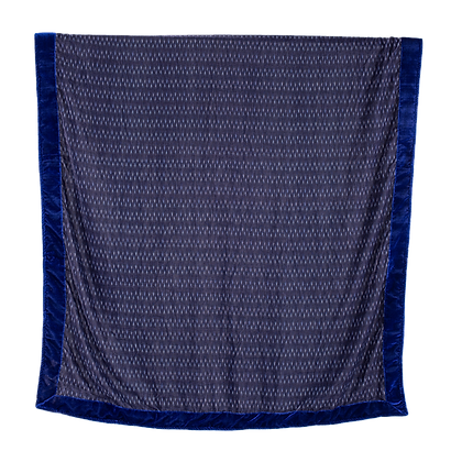 Blue Velvet Two-Tone Throw