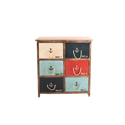 Nautical Chest of Drawers /Anchore Sign