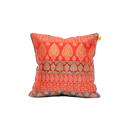 Two-Tone Brocade Cushion