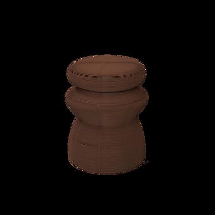 Spun Iron Coffee Stool Brown