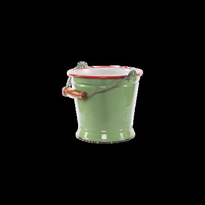 Iron Bucket Planter - Green - Medium Size