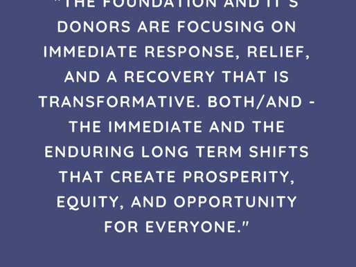 Transforming Philanthropy: The Courage to Do Things Differently in Uncertain Times