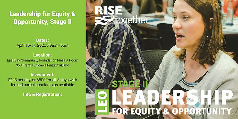 Leadership for Equity & Opportunity (LEO) Stage II