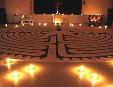 Labyrinth, reformed church, Pompton Plans, NJ