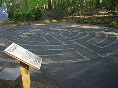 Labyrinth at the Wyckoff Public Library, Wyckoff,NJ