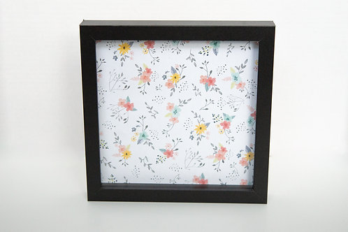 Customize Your Shadow Box - Floral background