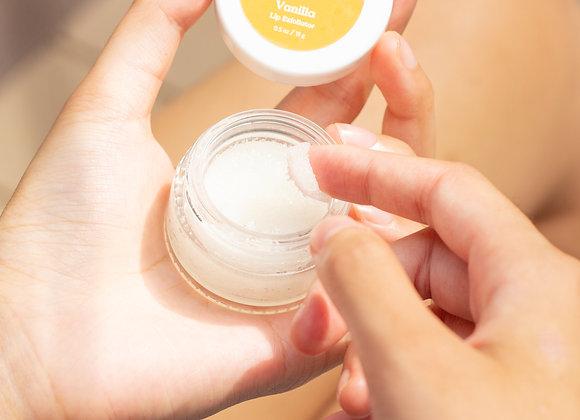 Exfoliant à lèvre à la vanille