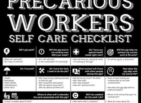 Precarious Workers - Self Care Checklist