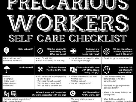Precarious Workers - Self Care Checklist