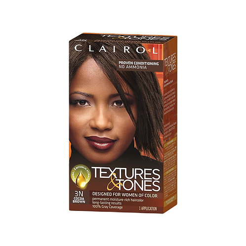 Clairol Textures & Tones 100% Gray Coverage 3N Cocoa Brown