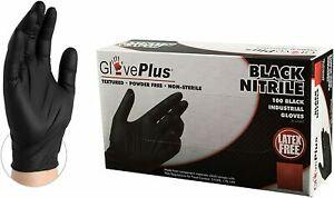 GlovePlus Black Nitrile Medium Latex Free 100