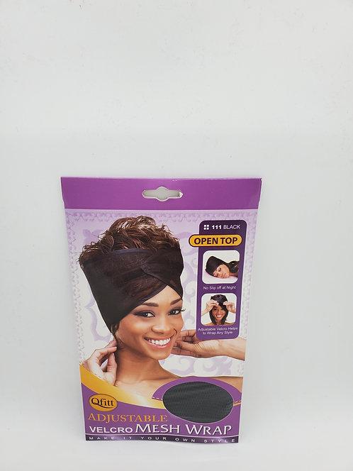 Qfitt Adjustable Velcro Mesh Wrap 111 Black