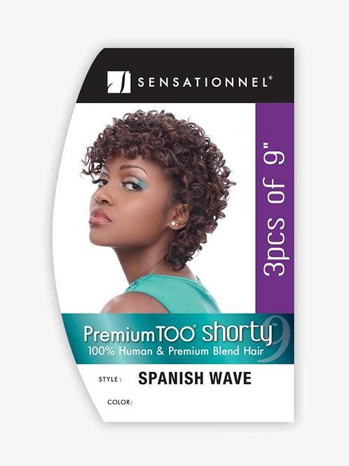 "Shorty Spanish Wave Color 30 3 piece 9"""
