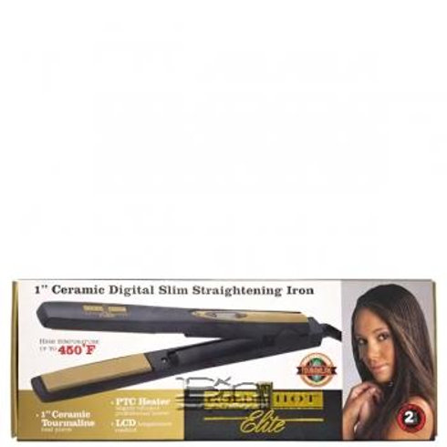 Ceramic Digital Slim Straightening Iron Golf N Hot Elite