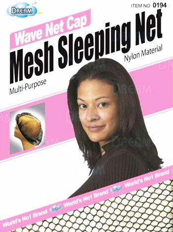 Wave Net Cap Mesh Sleepjng Net Black