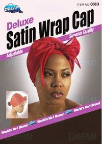 Delux Satin Wrap Cap Black