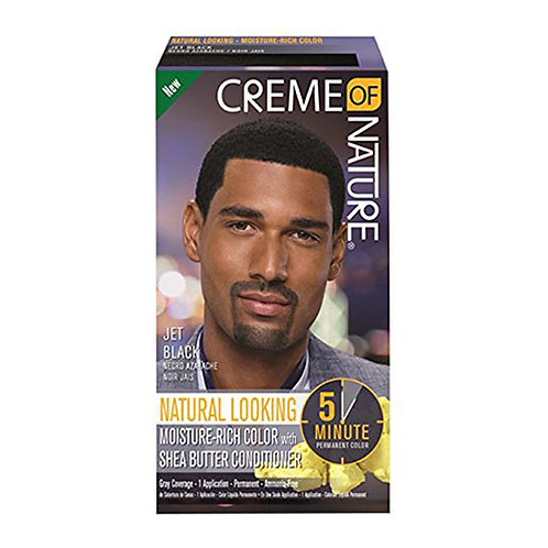 Creme Of Nature Jet Black Moisture Rich Color with Shea Butter Conditioner