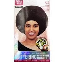 Glittering Satin Bonnet Black